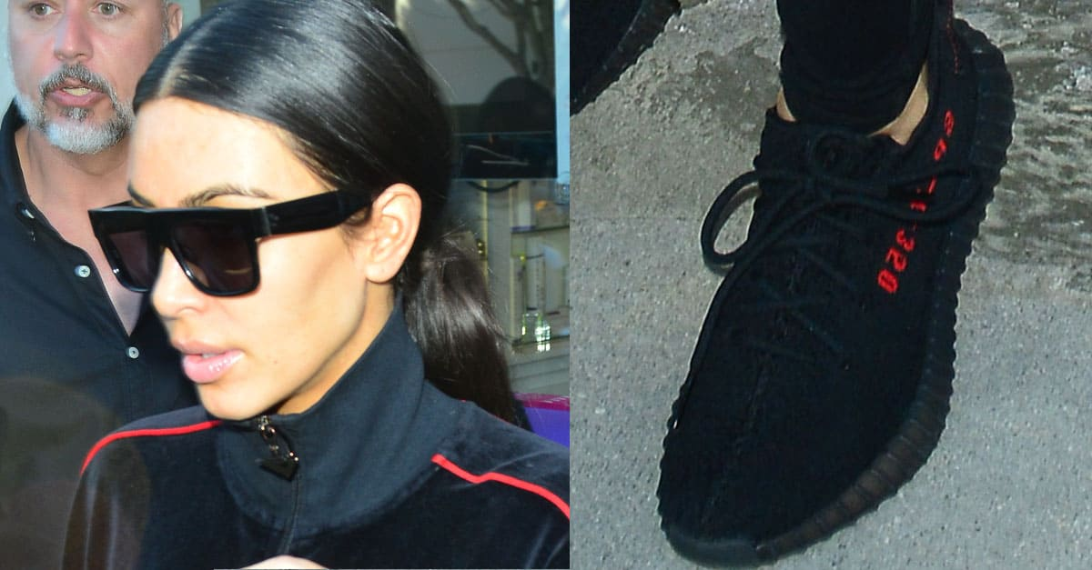fcd615290 Kim Kardashian Gets Pampered in Yeezy  Boost 350 V2  Sneakers