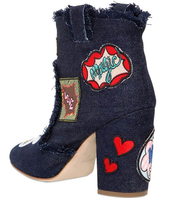 Laurence Dacade patchwork denim ankle boots