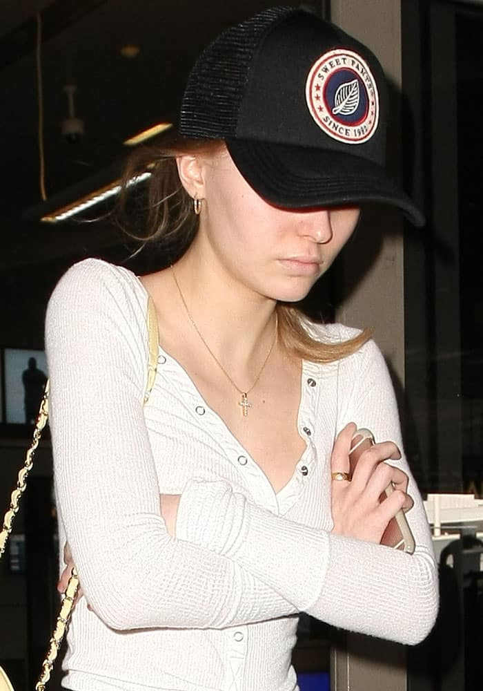 Lily-Rose Depp arrives at LAX on March 23, 2017
