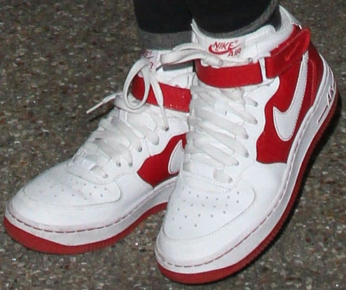 Lily-Rose keeps it casual in a pair of Nike Air Force 1 sneakers