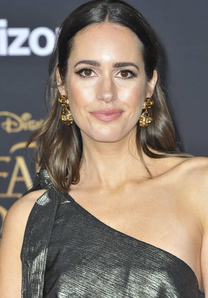 Louise Roe at the film premiere of Beauty and the Beast in Los Angeles on March 3, 2017