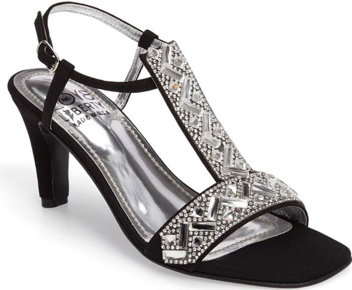 Love and Liberty Crystal Embellished T-Strap Sandals