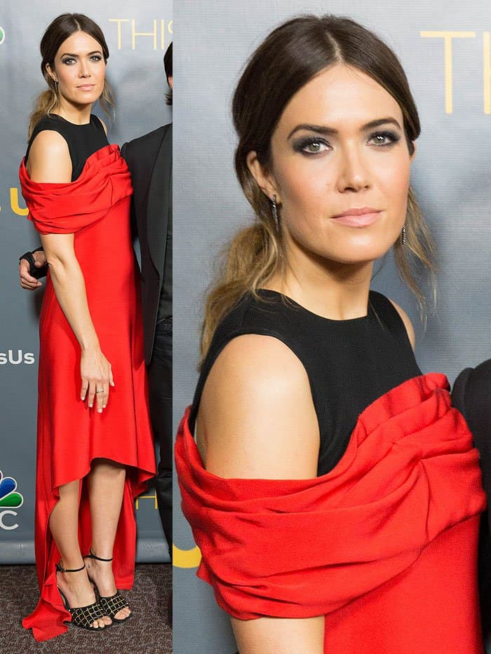 "Mandy Moore at the screening of the ""This Is Us"" finale held at the DGA Theatre in Los Angeles, California, on March 14, 2017."