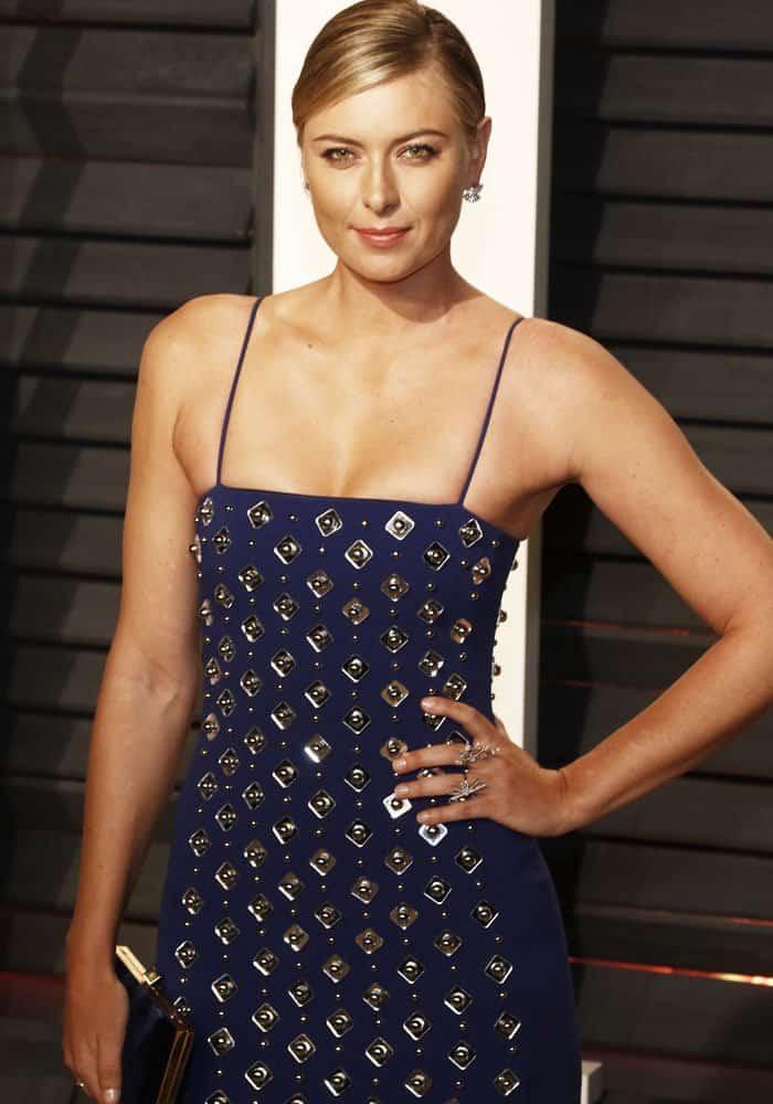 Maria Sharapova at the Vanity Fair Oscar Party at Wallis Annenberg Center for the Performing Arts