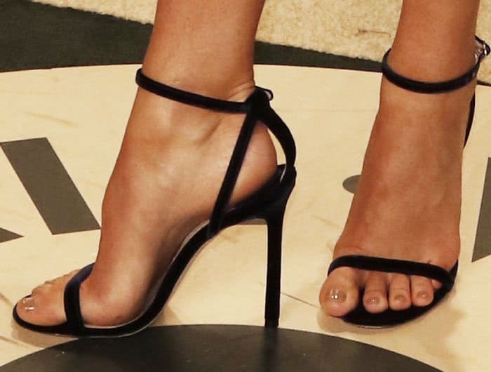 Maria stepped out in a pair of Jimmy Choo Minny sandals