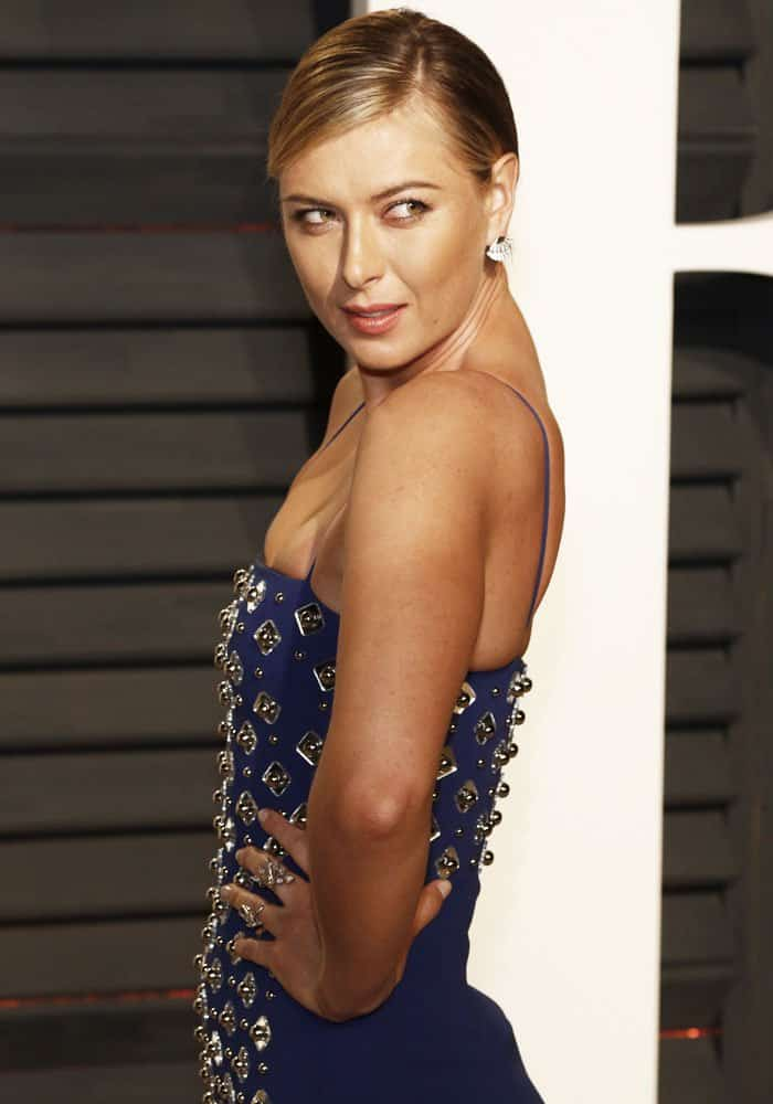 Maria poses in front of the camera as she savors the last days of her suspension