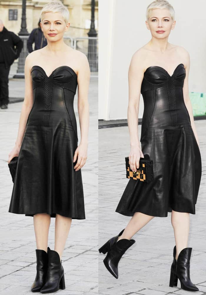 Michelle Williams at the Louis Vuitton show during the Paris Fashion Week Fall/Winter 2017/2018 on March 7, 2017