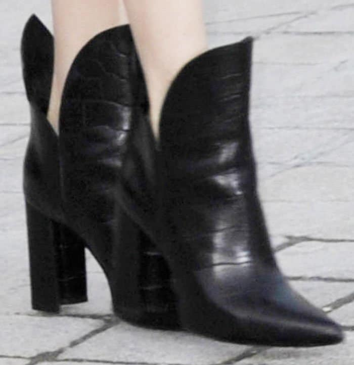 """Michelle wears the latest """"Pokerface"""" boots by Louis Vuitton"""