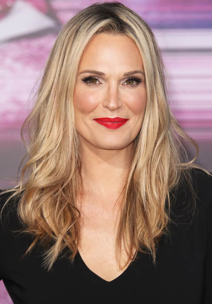 Molly Sims at the Los Angeles premiere of Power Rangers held at the Village Theater on March 23, 2017
