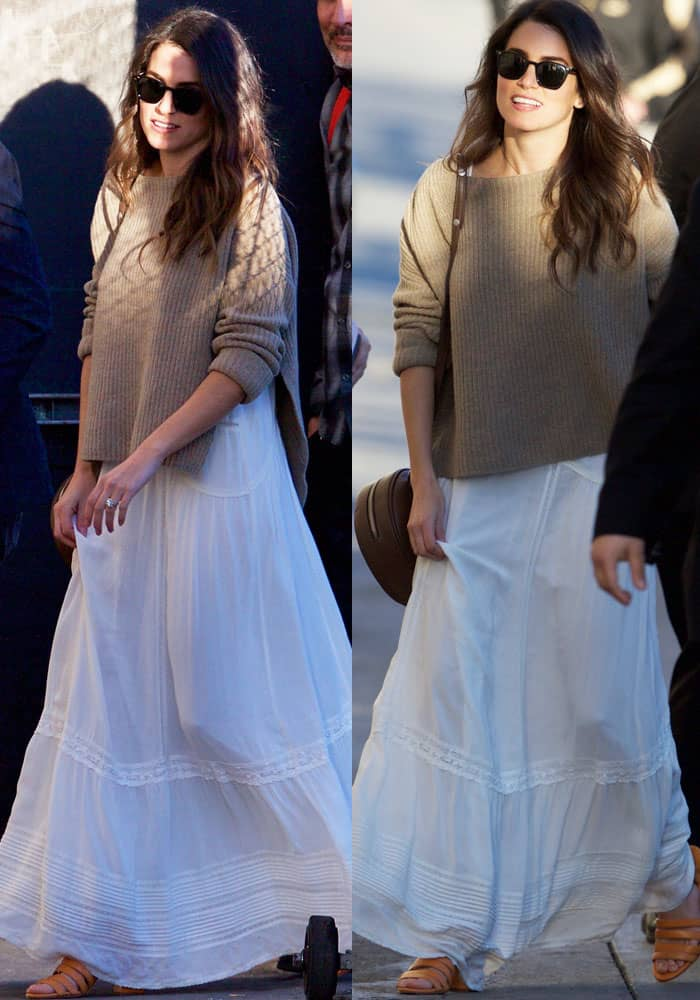 "Nikki Reed seen arriving at the ABC studios for ""Jimmy Kimmel Live!"" in Los Angeles on March 7, 2017"