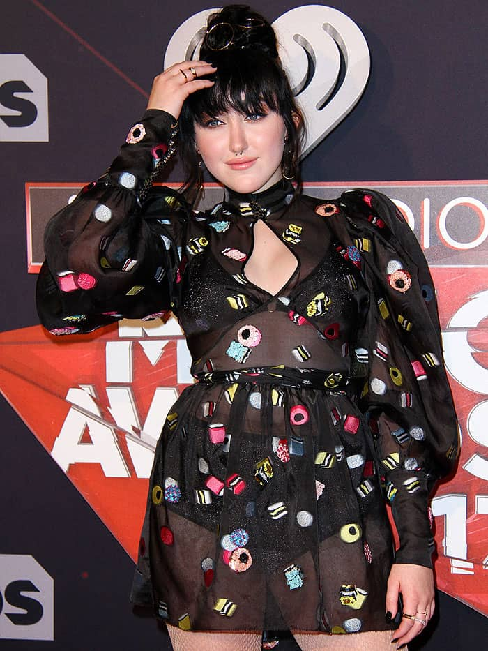 Noah Cyrus's dress was dotted with fun dessert-themed embroidery