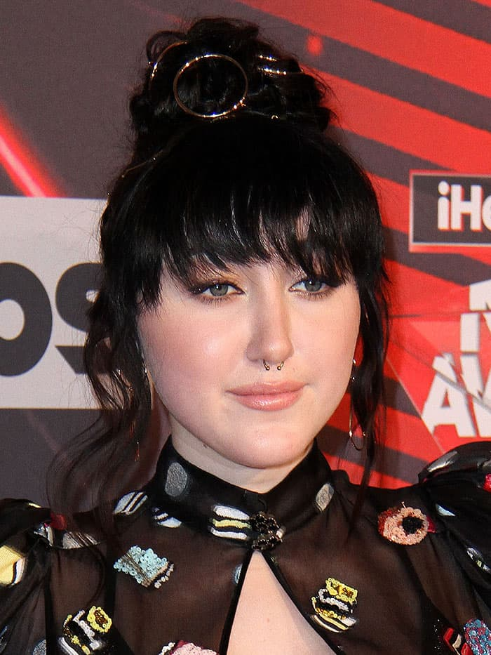 Noah Cyrus at the 2017 iHeartRadio Music Awards at The Forum in Inglewood, California, on March 5, 2017.