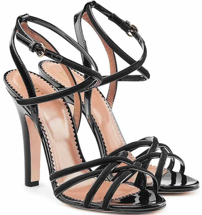 R.E.D. Valentino Patent Sandals