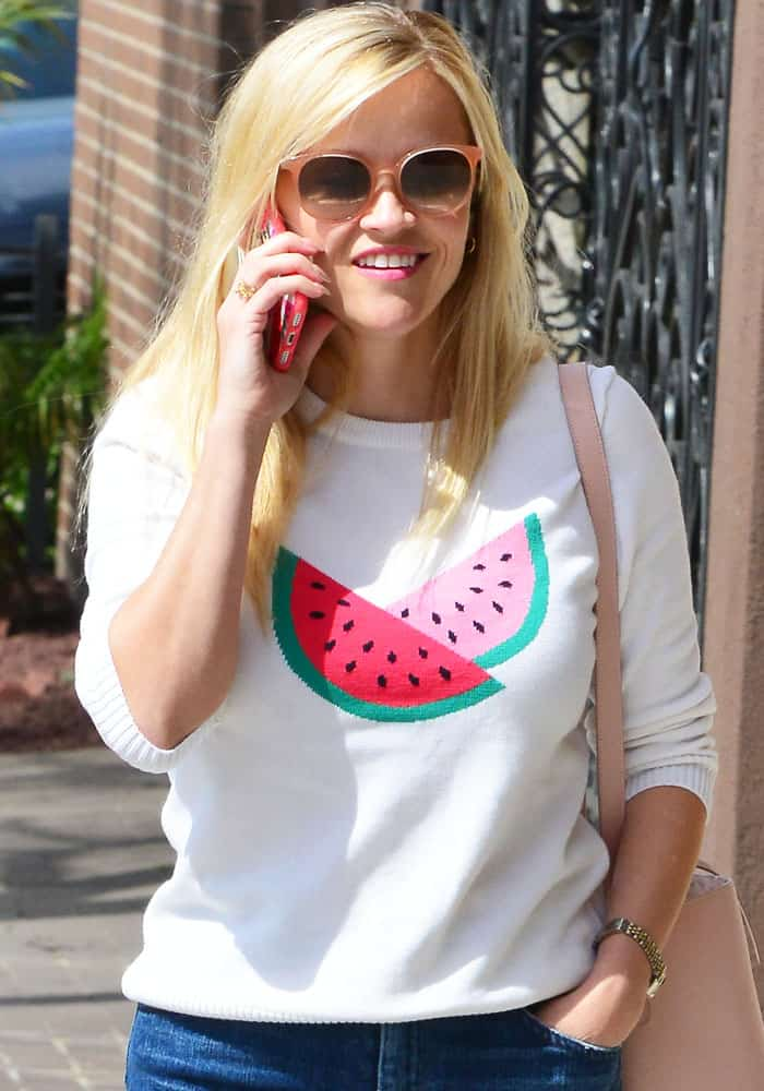 Reese Witherspoon out and about in Santa Monica on March 10, 2017