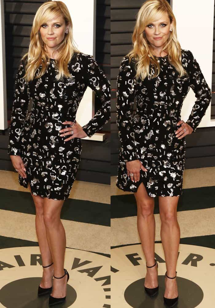 Reese Witherspoon at the Vanity Fair Oscar Party held at Wallis Annenberg Center for the Performing Arts