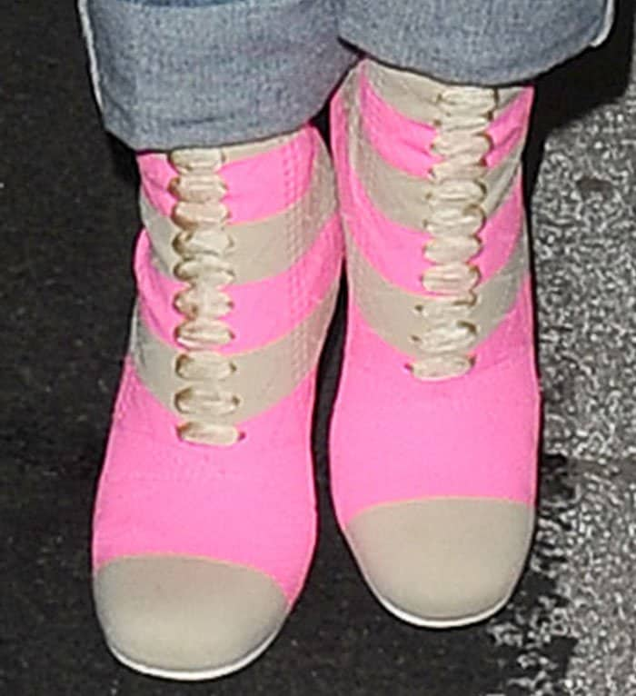 Rita shows off her brand new Fendi sock boots
