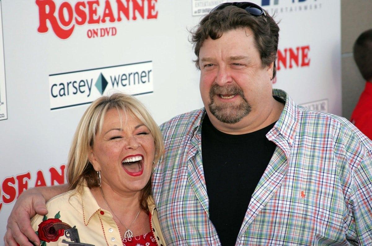 "Actors Roseanne and John Goodman attend the DVD launch of ""Roseanne: Season One"""