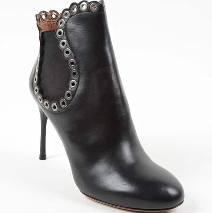 Alaïa eyelet ankle boots