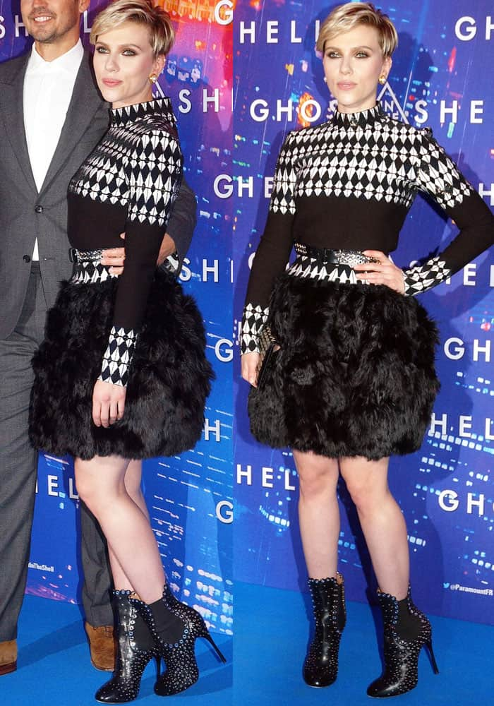 ScarJo grabbed everyone's attention in a head-to-toe Azzedine Alaïa outfit