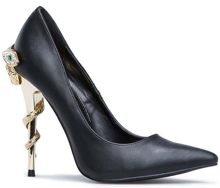 Yousra Snake-Stiletto-Heel Pointy-Toe Pumps