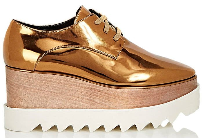 Stella McCartney Elyse Platform Oxford Creepers in Old Gold