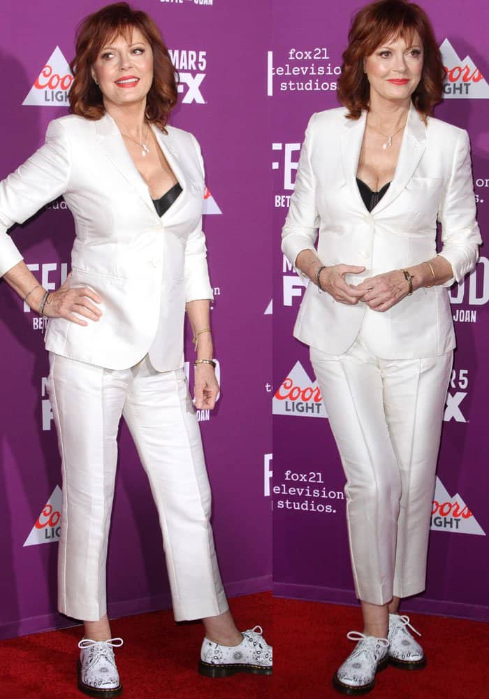 Susan Sarandon at FX's 'Feud: Bette and Joan' premiere held at the Grauman's Chinese Theatre in Los Angeles