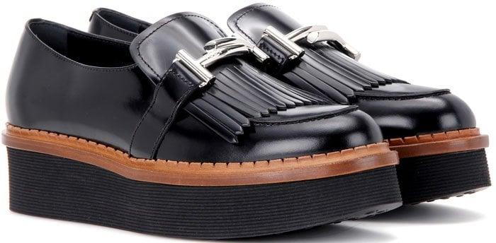 Tod's Polished Platform Loafers