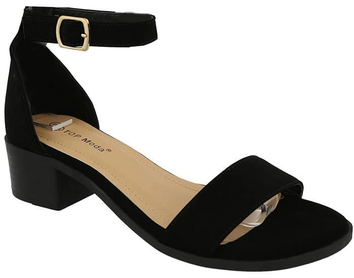 Top Moda Block-Heel Ankle-Strap Sandals