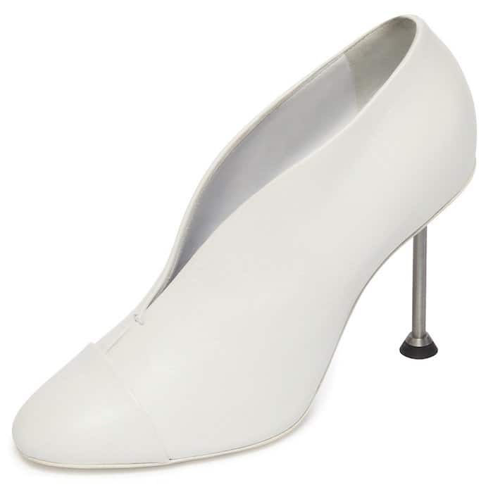 Victoria Beckham White Pin Pumps