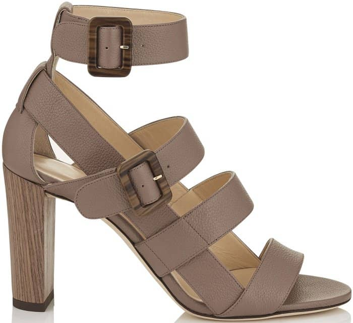 "Jimmy Choo ""Maya"" Sandals in Light Mocha"