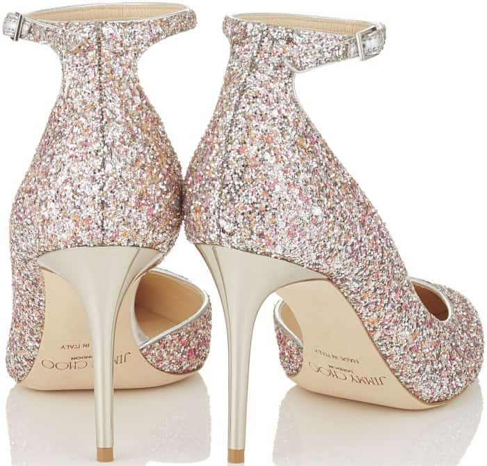 "Jimmy Choo ""Lucy"" Camellia Mix Speckled Glitter Pointy Toe Pumps"
