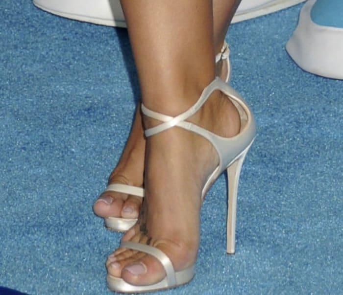 Demi Lovato's hot feet in Giuseppe Zanotti shoes