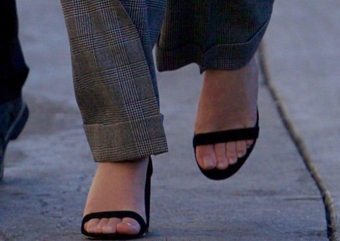 "Emma Watson wearing ""Hey Simone"" sandals from SUSI Studio"