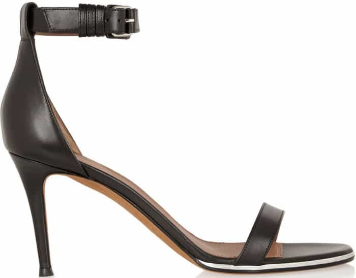 Givenchy 'Nadia' Ankle-Strap Sandals in Black Leather