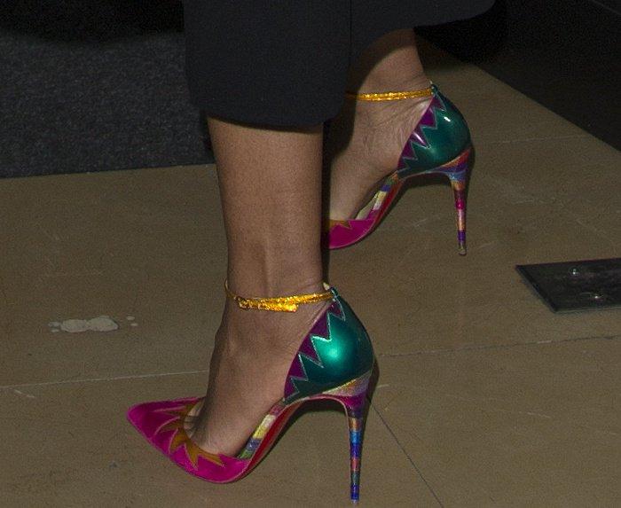 "Naomie Harris wearing Christian Louboutin's ""Chapito Ho"" pumps"
