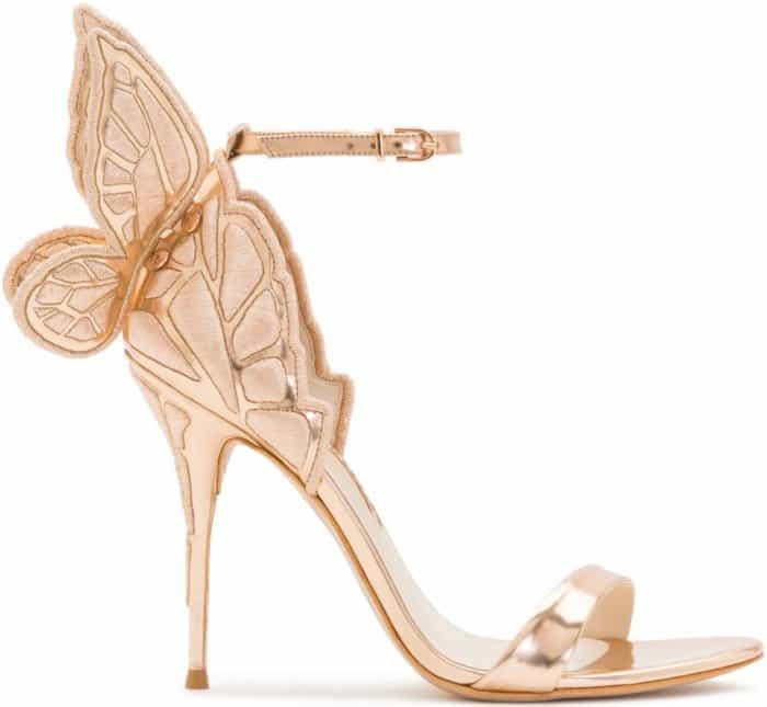 "Sophia Webster ""Chiara"" Sandals in Rose Gold"