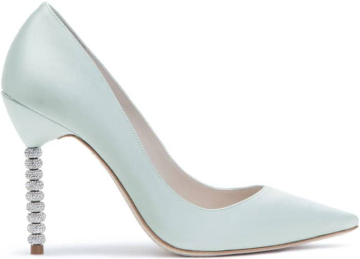 "Sophia Webster ""Coco Crystal"" Pumps in Ice Blue Satin"