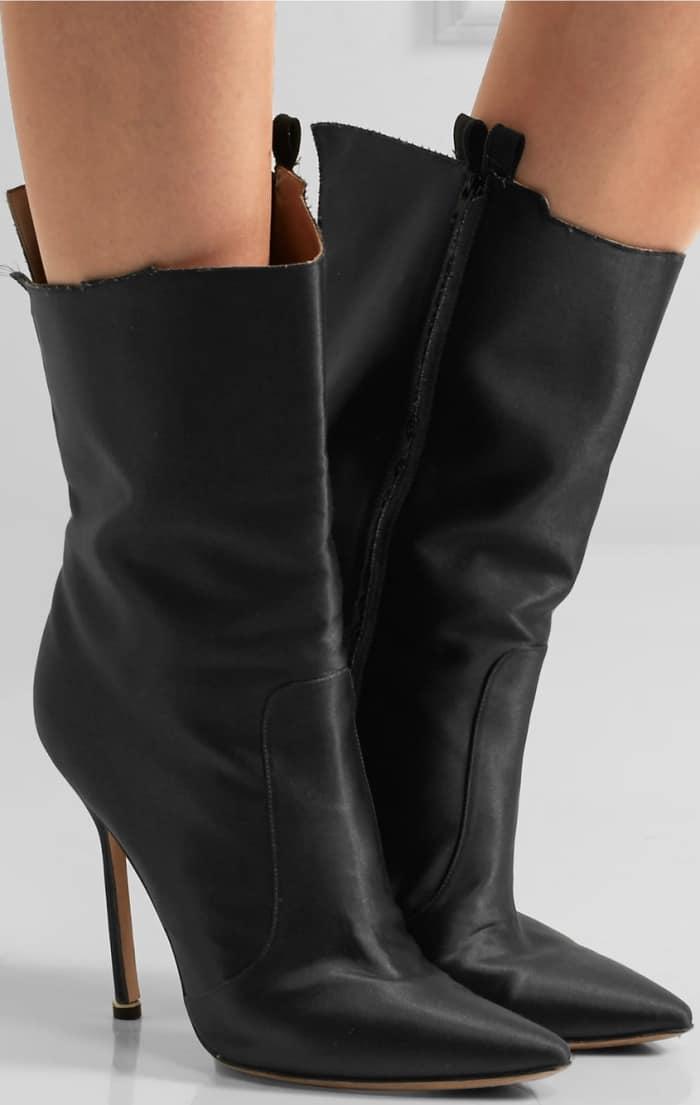 Vetements x Manolo Blahnik cutout satin boots