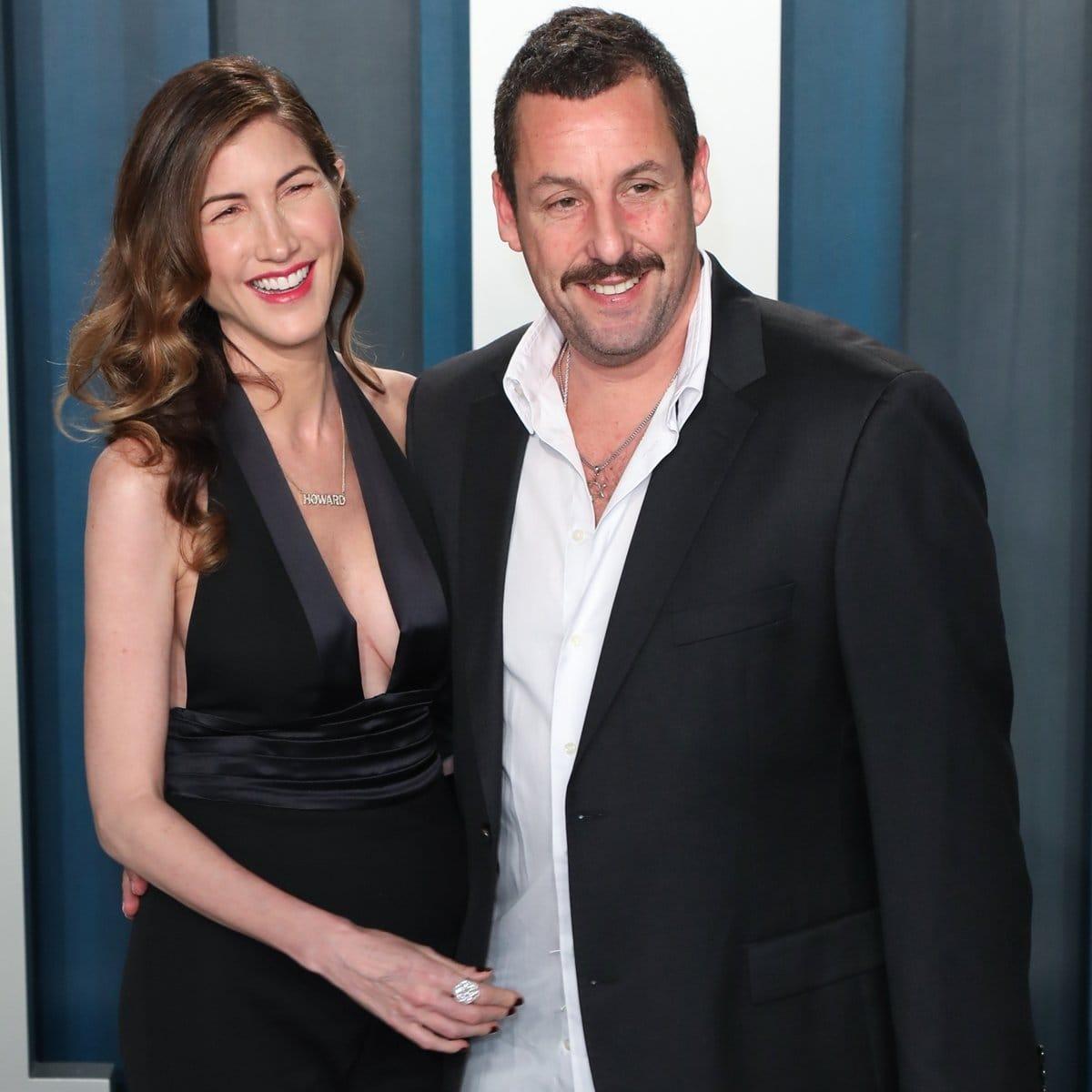 "Adam Sandler has been married to Jacqueline ""Jackie"" Sandler (née Titone) since June 2003"