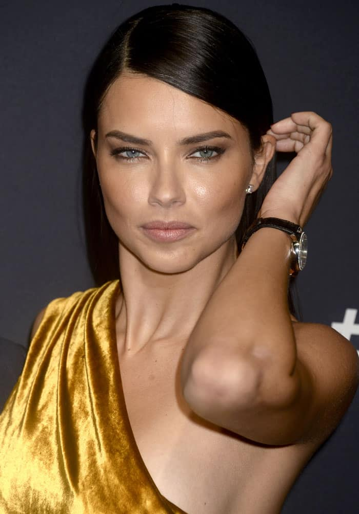 """Adriana Lima attending the """"For the Love of Cinema"""" gala dinner, during the Tribeca Film Festival, at Spring Studios in New York City on April 21, 2017"""