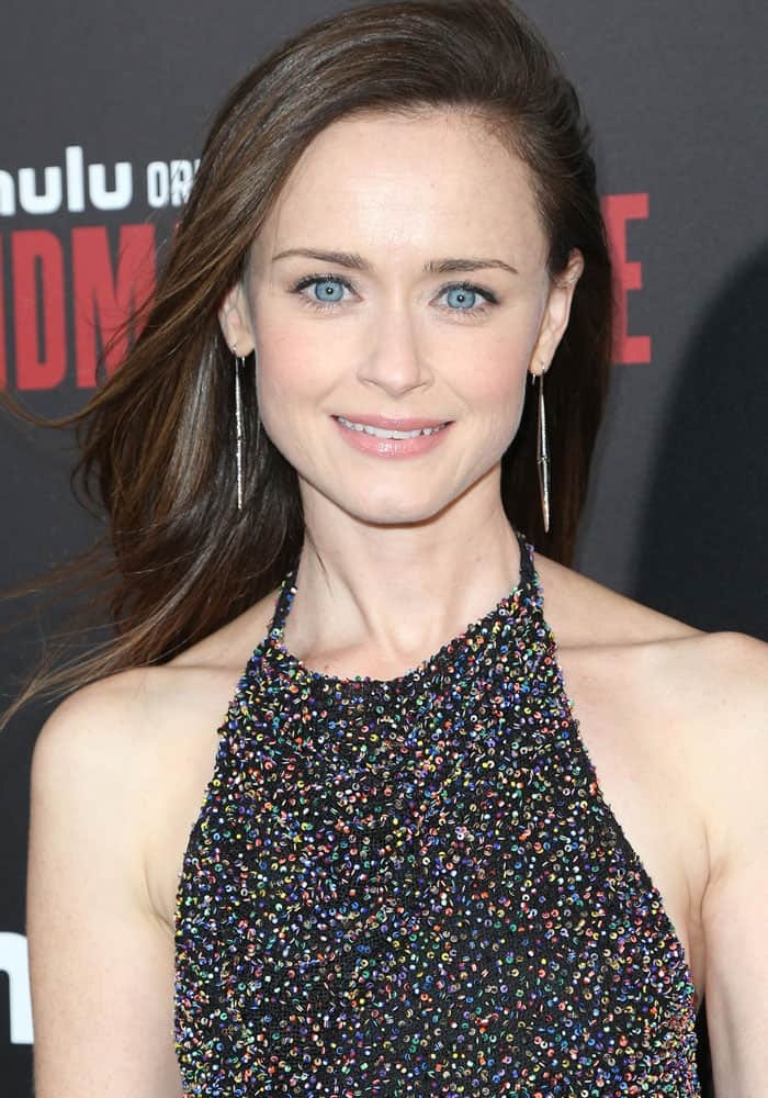 """Alexis Bledel at the premiere of Hulu's """"The Handmaid's Tale"""" in Hollywood on April 26, 2017"""