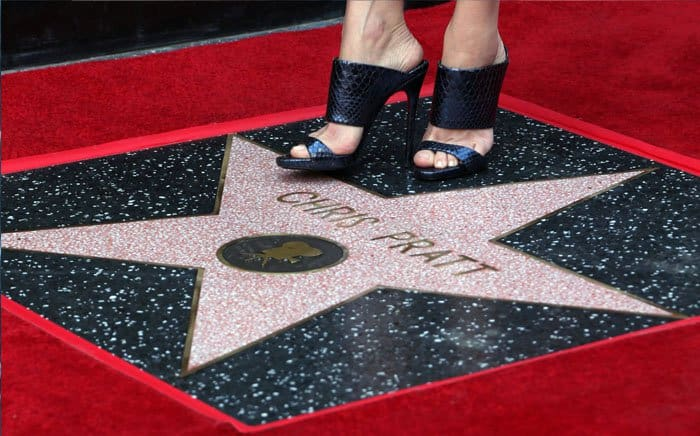 The actress proudly stands by her husband's star