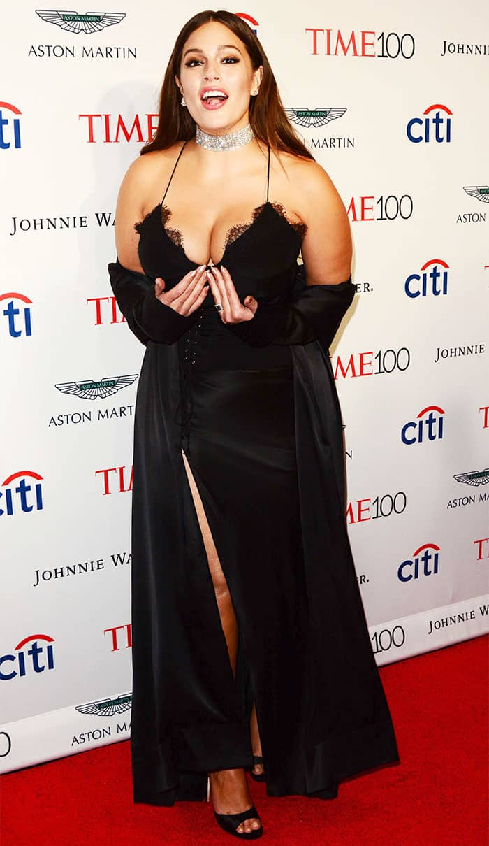 Ashley Graham at the 2017 Time 100 Gala held at the Lincoln Center in New York City on April 25, 2017