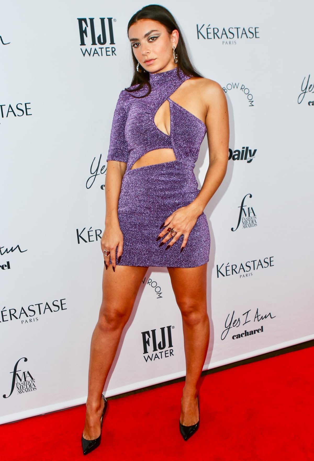 Charli XCX in a Stella McCartney dress at The Daily Front Row's 2021 Fashion Media Awards