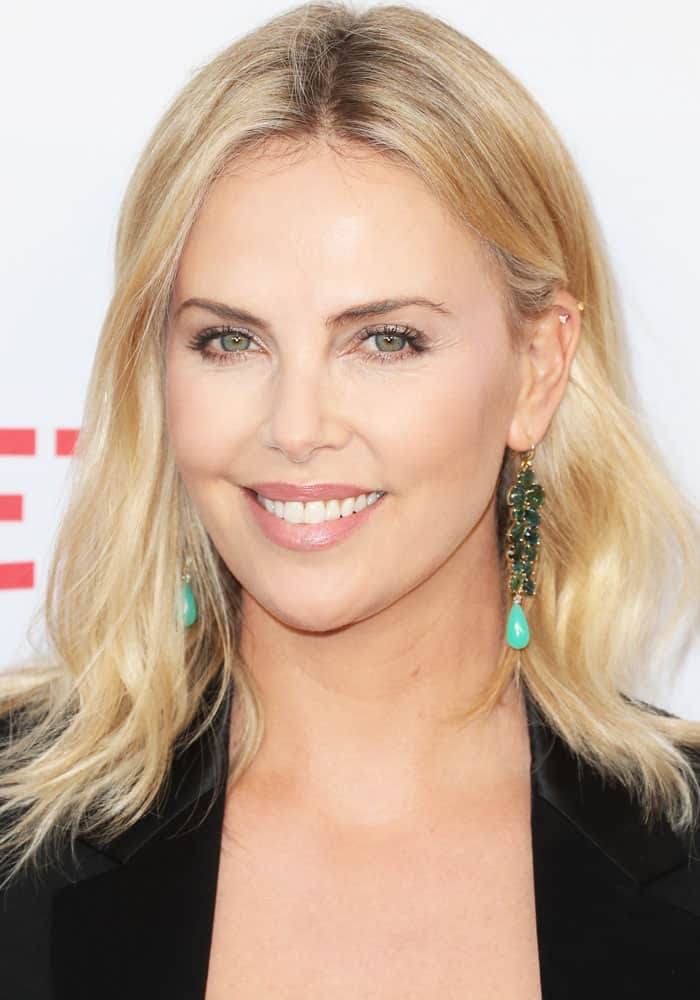 """Charlize Theron at the premiere of Netflix's """"Girlboss"""" in Los Angeles on April 18, 2017"""