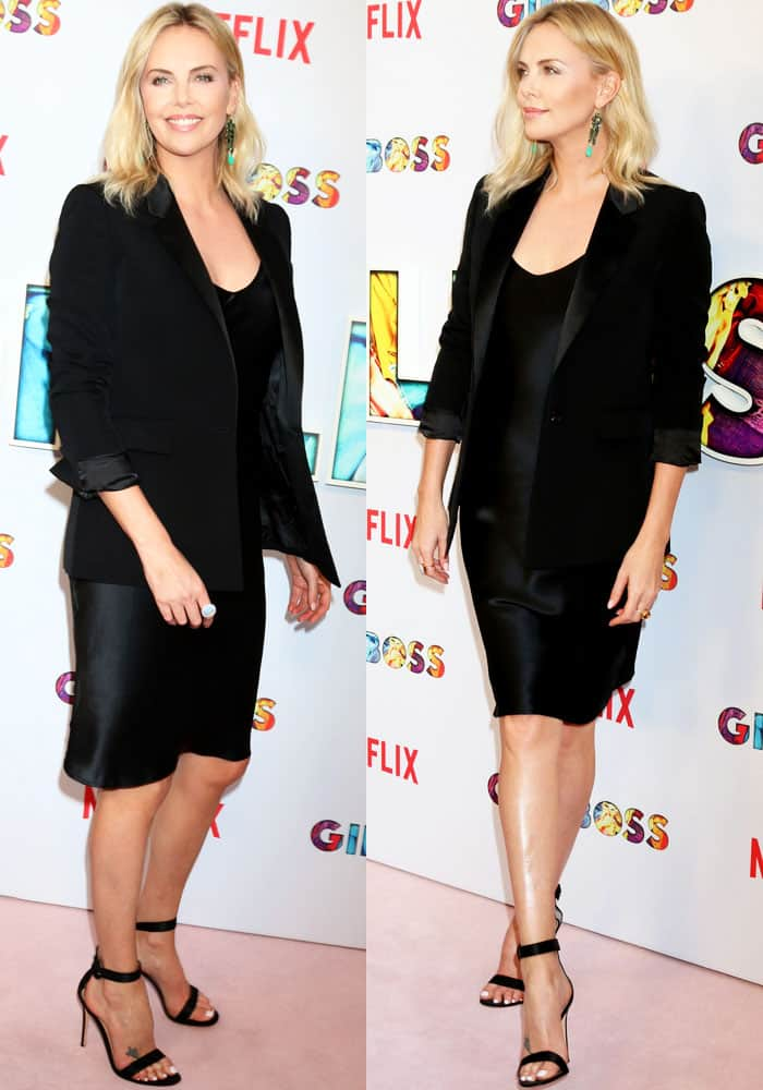 Charlize dresses the part in a Nili Lotan LBD
