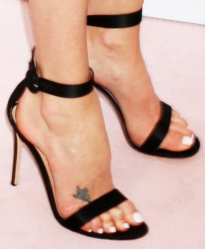 Charlize Theron in Gianvito Rossi 'Portofino' sandals