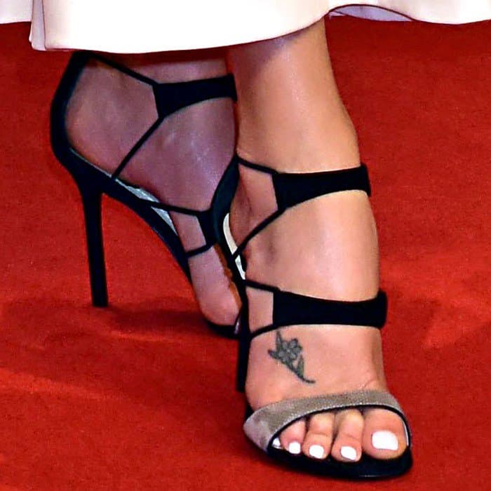 Charlize Theron in Barely-There Shoes