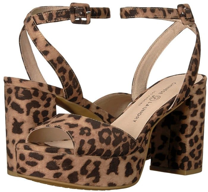 Chinese Laundry 'Theresa' Leopard Block Heels