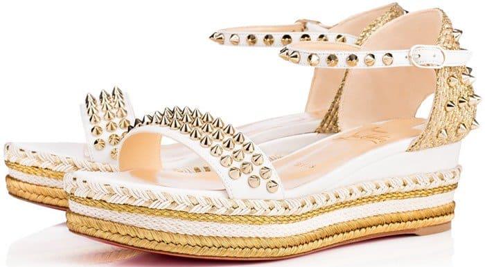 Christian Louboutin 'Madmonica' Studded Espadrille Sandals
